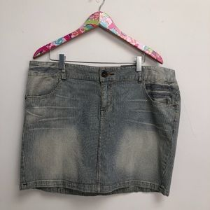 NWT Torrid striped denim miniskirt size 16